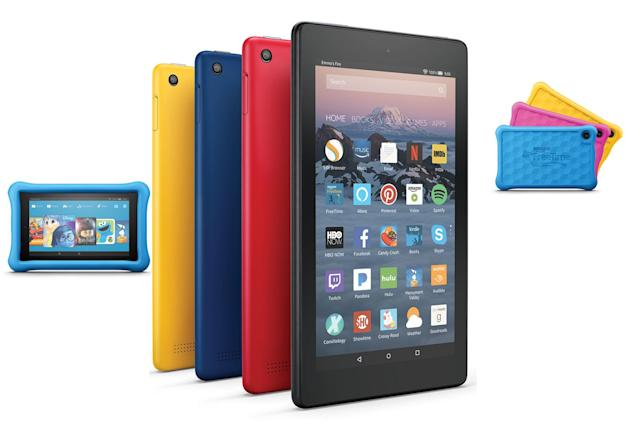 Amazon's Fire tablets get a little thinner and a little faster