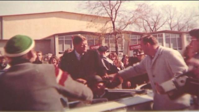 Photos found of JFK`s visit to Barrington High School