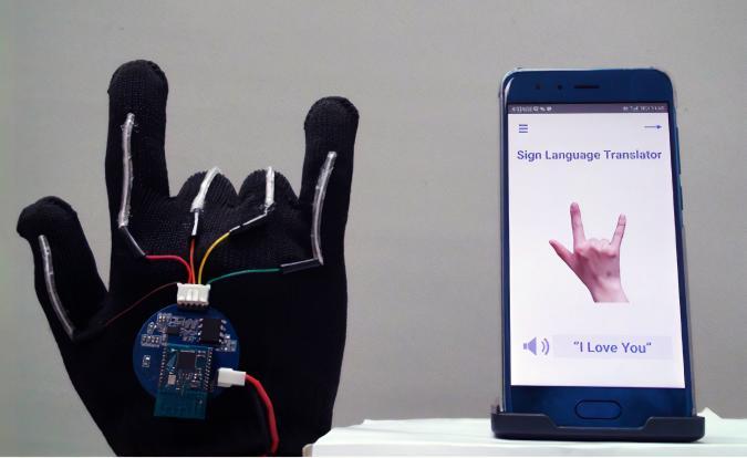 UCLA sign language translation gloves