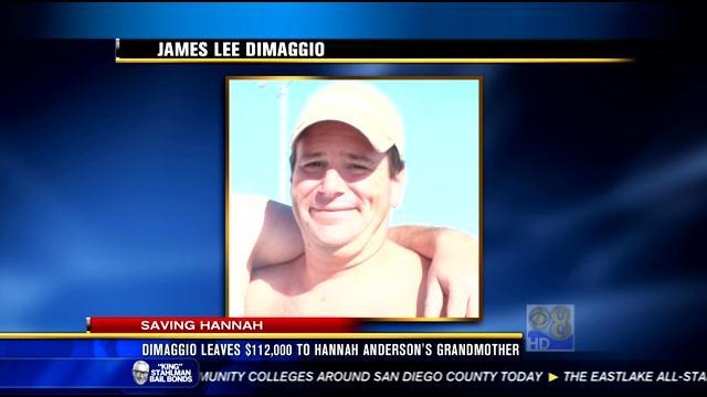 DiMaggio leaves $112,000 to Hannah Anderson's grandmother