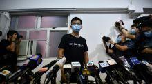 Hong Kong activist Joshua Wong says 'resistance will continue'