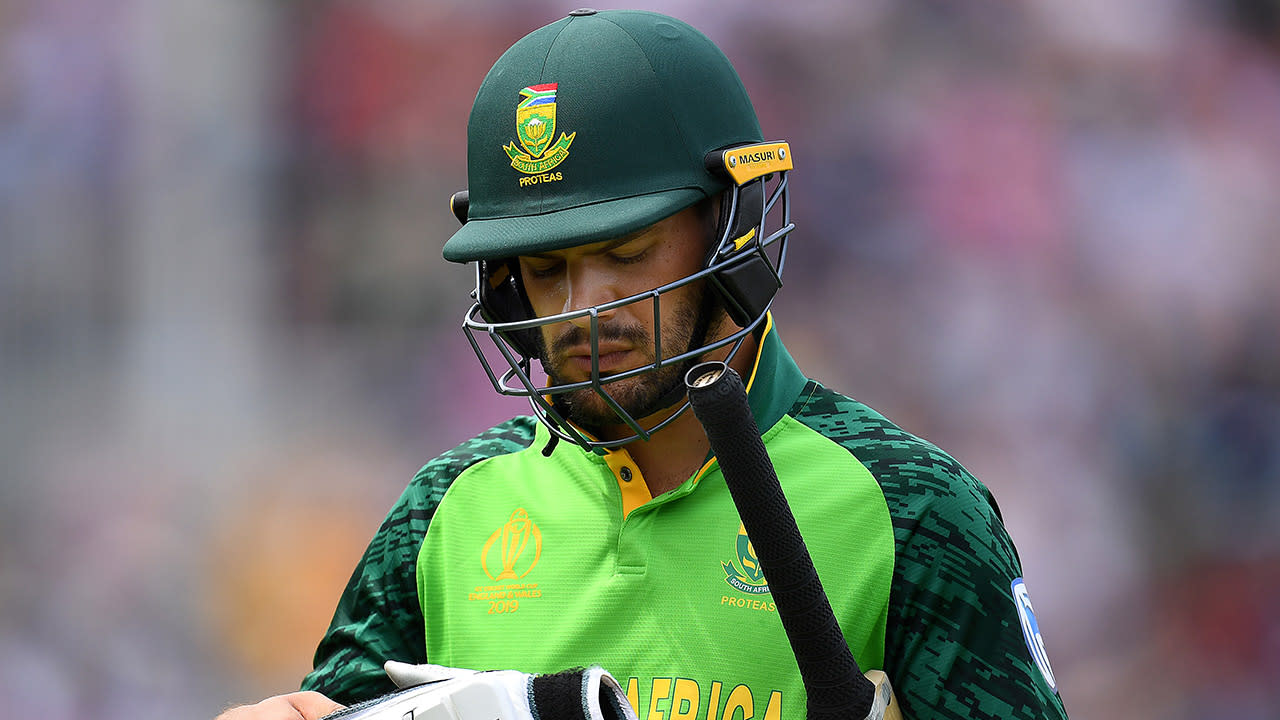 'It's unacceptable': South African batsman injures himself lashing out