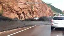 Mudslide carries cars down Colorado highway