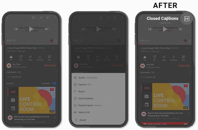 YouTube's refreshed mobile player has more streamlined controls
