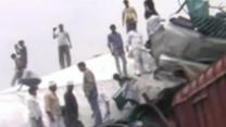 Raw: Trains Collide in India, 40 Dead