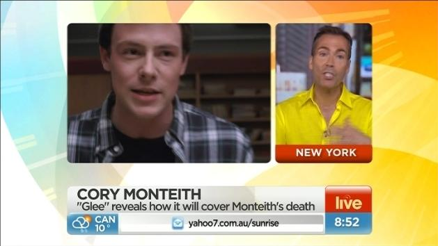 Glee to cover Monteith death