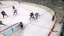 Kreider hammers a rebound from sharp angle