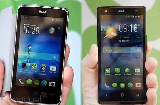 Acer's Liquid series: hands-on with the new E3 and Z4