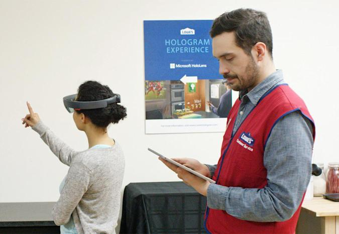 With HoloLens, you can now remodel your kitchen at Lowe's
