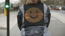 'Emoji jacket' allows cyclists to share mood and communicate with drivers