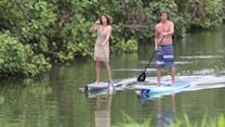 Cindy Crawford Paddle Boards in Hawaii