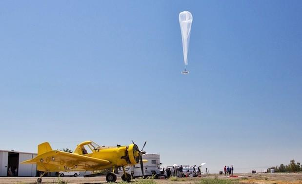 Google shows off Project Loon balloon-distributed internet tests over California
