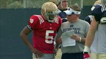 Notre Dame practices ahead of BCS title game