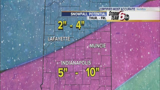 StormTeam 6: Winter storm moves into Indiana