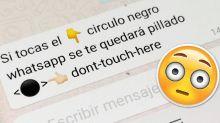 Todo lo que hay que saber sobre 'El círculo negro de WhatsApp', la última broma viral que bloquea el móvil