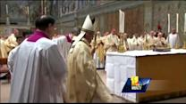 Pope bucks tradition on first day on job