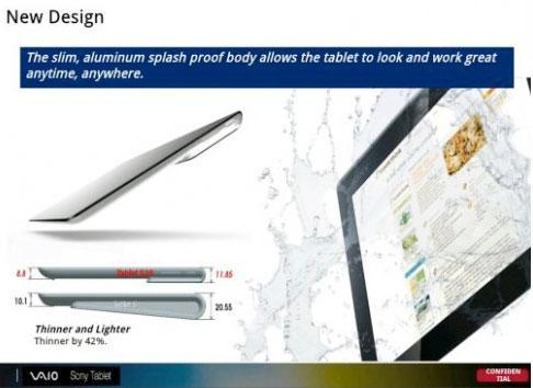 Sony Xperia Tablet leaked from internal slides: Surface-style keyboard and tentative $450 price tag
