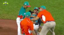 Little League pitcher consoled by opposing team after walk-off