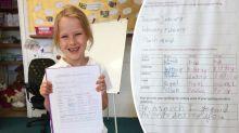Mum shocked to find creepy note in daughter's homework