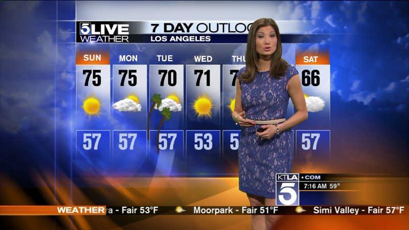 KTLA Weather: Liberte Chan`s Sunday Forecast
