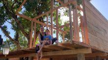 """Ana Hickmann monta casa na árvore para o filho: """"Não sei quem vai passar mais tempo lá"""""""