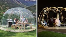 This Giant Outdoor Bubble Tent Will Turn Your Backyard Into a Winter Oasis