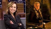 Emilia Clarke finally reveals the Game of Thrones coffee cup culprit's identity