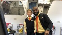 Video: Five Year-Old Charms Allegiant Passengers As Honorary Flight Attendant En Route To His Walt Disney World® Resort Wish