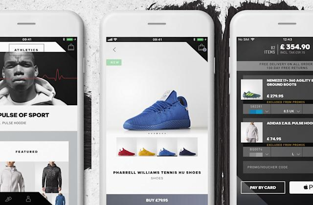 Adidas' first shopping app is also a personalized news feed
