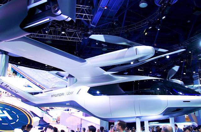Under the mighty propellers of Hyundai's flying taxi