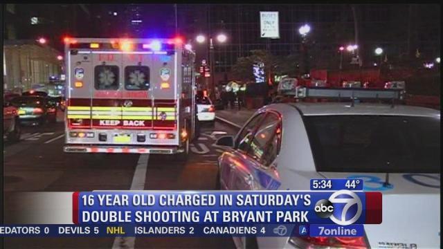 Teen charged in weekend shooting in Bryant Park