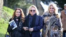 Ab Fab stars join mourners in bright colours at June Whitfield's funeral