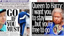 'Go... if you must': Newspapers react to Royal Family's 'Sandringham showdown'
