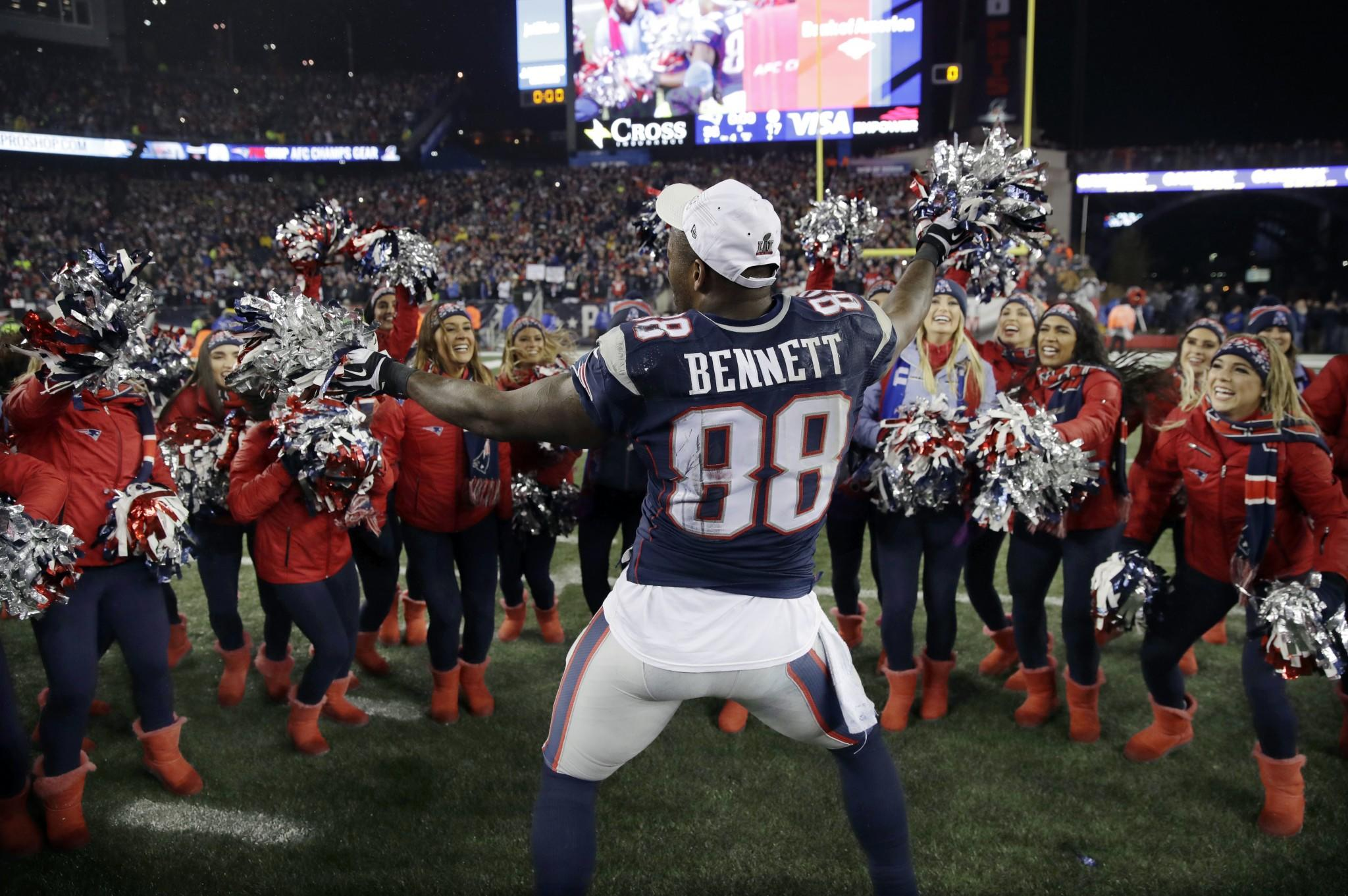 No one had more fun than Martellus Bennett during Patriots AFC