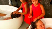 Chrissy Teigen Shared the Sweetest Photo of Luna Washing Her Hair