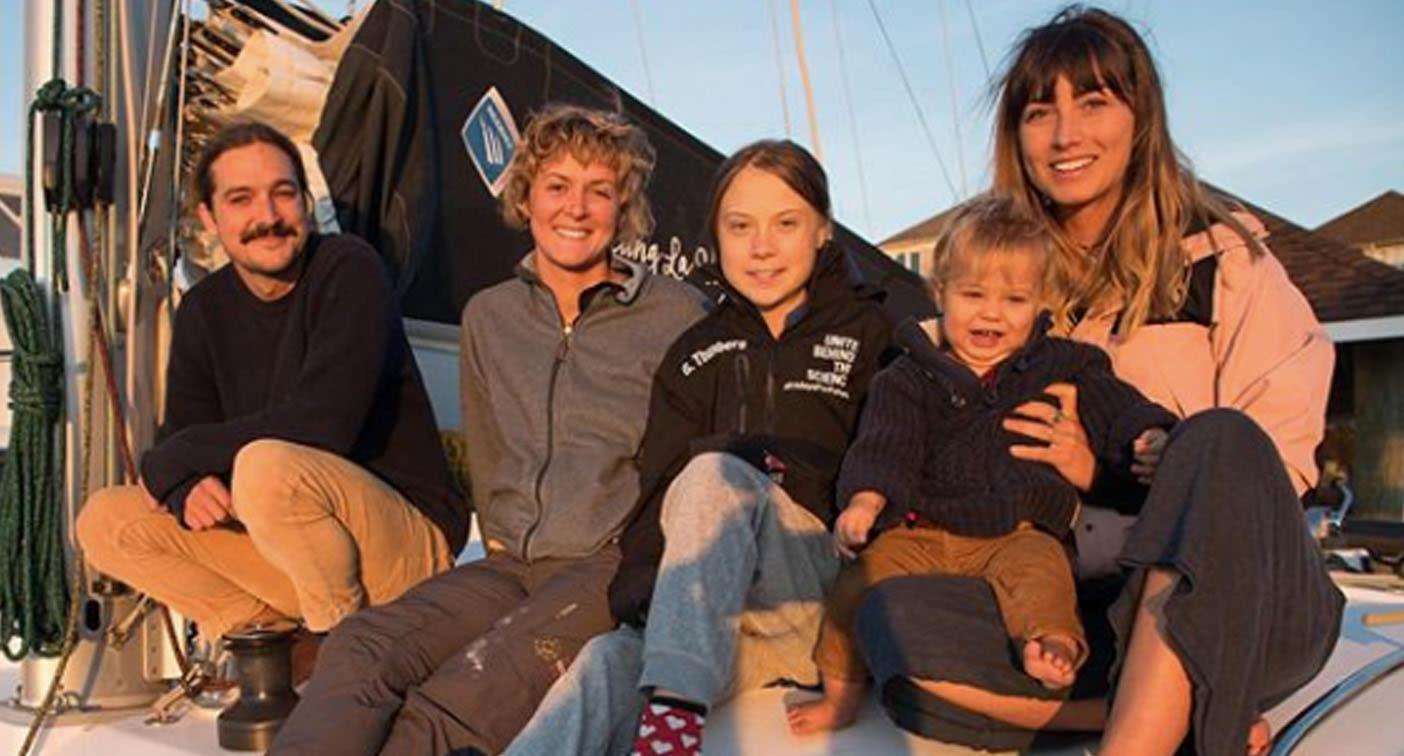 Climate activist Greta Thunberg hitches ride with Australian family