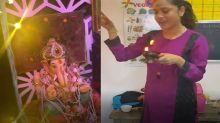 Ankita Lokhande celebrates Ganpati visarjan festival with family video viral