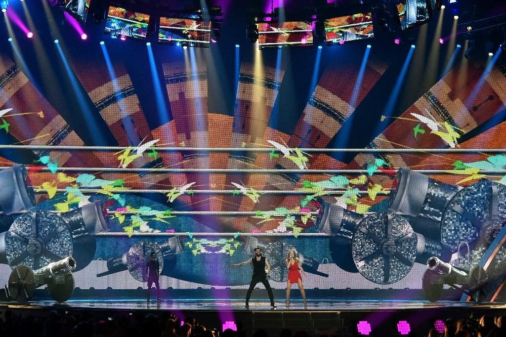The Eurovision Song Contest of catchy europop and spectacular staging has been an annual favourite since 1956 (AFP Photo/Sergei SUPINSKY )