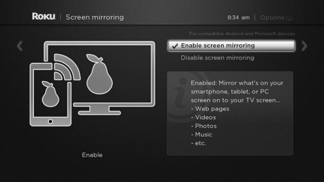 Roku tries out screen mirroring from phones and PCs