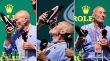 Patrick Stewart drank champagne from a sweaty boot at the Canadian Grand Prix
