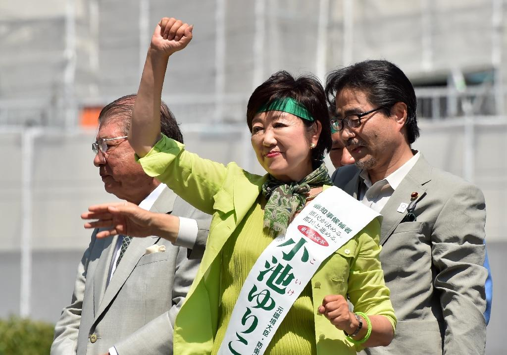 A key task for Tokyo's new mayor Yuriko Koike will be dealing with the city's troubled preparations for the 2020 summer Olympics, which have been plagued by a series of embarrassing scandals and soaring costs (AFP Photo/Kazuhiro Nogi)