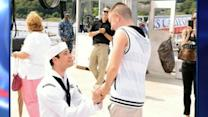 Gay Sailor's Homecoming Comes With Marriage Proposal