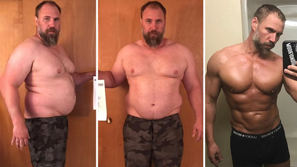Dad's impressive transformation in just 150 days