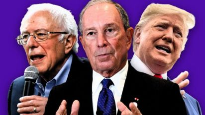 Bloomberg campaign largely focused on 2 rivals