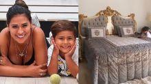"""Ostentação! Simone exibe quarto do filho com cama gigante: """"Príncipe"""""""