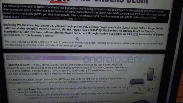 HTC Rhyme preorders said to begin September 22, Plum-colored exclusive at Target? (updated)
