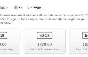 Apple's iPad WiFi + 4G renamed 'iPad WiFi + Cellular' across many of its stores