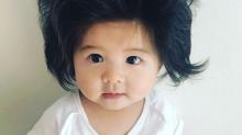 'Baby Chanco', la bebé japonesa que encanta en Instagram con su indomable cabellera
