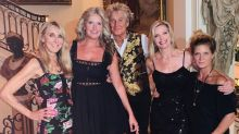 Rod Stewart Poses with 4 Mothers of 7 of His Children at Daughter Kimberly's Birthday Party