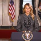 First lady offers farewell message to nation